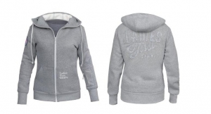 Ladies Light Blend hoodie - grey
